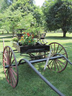 Antique Steel Iron Wagon Wheels With Axle Farm