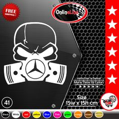 Can Am  Can-AM Motorcycle RS F3 Skull Rip Decal Sticker Set Kawasaki Ninja Decal