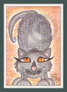 Whimsy Cat 6 - Original ACEO