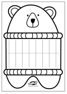 children activities, more than 2000 coloring pages - Style Magazine Diy With Kids, Art For Kids, Preschool Crafts, Kids Crafts, Preschool Activities, Children Activities, Color Activities, Bear Crafts, 3rd Grade Art
