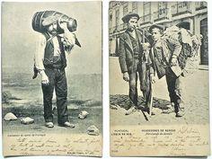 Colecção Costumes de Portugal Azeiteiro do Norte Vendedores de Rendas, Lisboa 1904