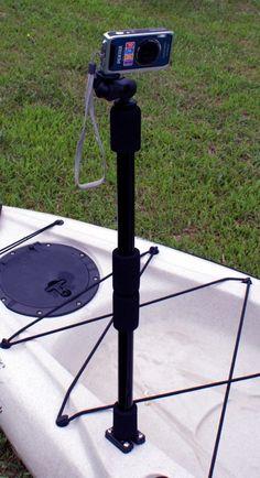 1000 images about kayak fishing camera mounts on for Gopro fishing mounts