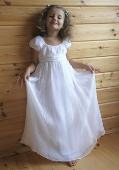 Scoop Ankle Length Chiffon with Lining Flower Girl Dress at Angelweddingdress