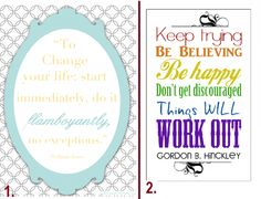 Free Printables to Start Believing and Keep Going