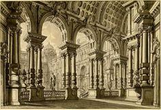 Antonio+Galli+da+Bibiena,Stage+design,1740–45 Gray+ink+and+wash;(940×645)