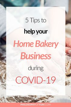 """""""How is my Home Bakery Business going to survive the pandemic? That's what most baking business owners are thinking right now! Read this post to get tips and ideas for how you can keep growing your home bakery during this difficult time AND stay safe. Home Bakery Business, Baking Business, Cake Business, Business Marketing, New Business Ideas, Business Tips, Cupcake Jemma, Baking Classes"""
