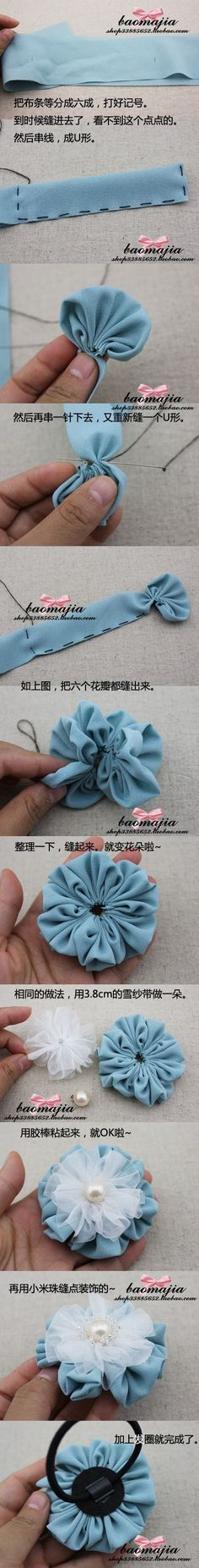 Fabulous way to make flower! Gonna try this sooner, LOVE IT!