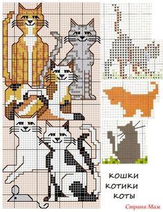 Я уже выкладывала котов из своей коллекции здесь http://www.stranamam.ru/  А здесь еще небольшая часть из моей коллекции