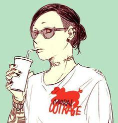 Anime Demon, Anime Manga, Anime Guys, Kaneki, Uta Tattoo, Tokyo Ghoul Uta, Ayato Kirishima, Boy Tattoos, Anime Costumes