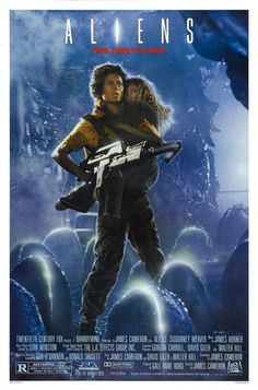 Aliens is one of the best movies of the I love how James Cameron gave a sci - fi action vibe to the Alien franchise. I also like this movie better than Alien. I adore this movie! One of the best science fiction films ever! Horror Movie Posters, Alien Movie Poster, Alien Film, Aliens Movie, Classic Movie Posters, Classic Movies, Horror Movies, Alien 2, Sci Fi Movies