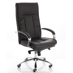 Tolstoy Faux Leather Executive Chair - High Back | With height adjustment, an anti-shock reclining system and wonderful stitch detailing, the Tolstoy Executive Office Chair will keep you comfortable in style! Only £160.99 + VAT!