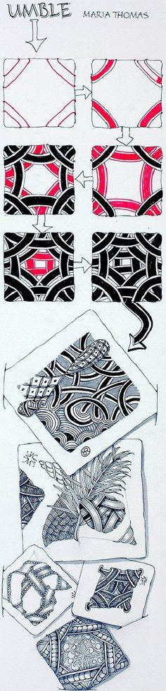 Umble ~ Zentangle #tangle by founder Maria Thomas