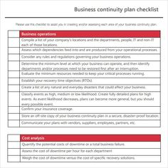 Business continuity plan checklist template announcement 12 business continuity plan templates word excel pdf templates accmission Image collections