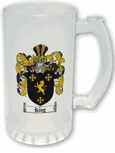 $24.99 Frosted Coat of Arms Stein