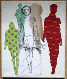 Catwalk Gold by Rosie James Rosie James, Portrait Embroidery, Stitch Drawing, Space Drawings, Thread Art, Fashion Design Drawings, Identity Art, Fashion Painting, Textiles