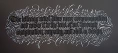 Mike Kecseg, The Lettering Artist. My goodness. Such intricate calligraphy.