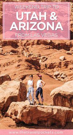 Awesome weekend road trip from Las Vegas, Nevada to Utah and Arizona, USA. #roadtrip #USA #LasVegas #Utah #Arizona