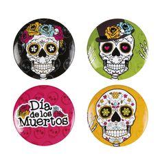Dia de los Muertos Buttons