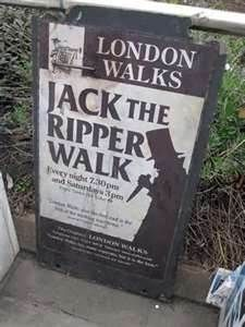 I know this is really morbid, but I have always been fascinated with Jack the Ripper.  I've read dozens of books on the murders and the theories about his identity. Going on the Ripper Walk would be fascinating and fun in a really twisted way.