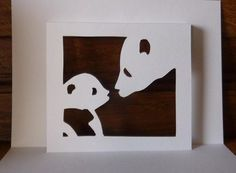 Kirigami gratuit maman panda et son bébé