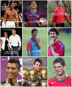 Some great Messi v Ronaldo pics doing the rounds :)