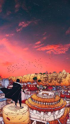 Sasuke's first return to the Leaf HD Phone Wallpaper Naruto Shippuden Sasuke, Naruto Kakashi, Anime Naruto, Fan Art Naruto, Wallpaper Naruto Shippuden, Otaku Anime, Manga Anime, Boruto, Naruto Wallpaper Iphone