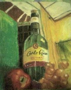 Carlo Rossi Oil pastel Drink Illustration