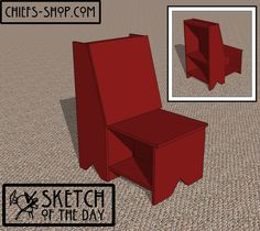 Sketch of the Day: Storage Chair