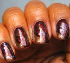 Fall ombre nails