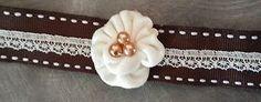 Brown & white choker renaissance Victorian steampunk gothic wedding vintage larp NemsCreations also takes custom requests @ https://m.facebook.com/NemesiasCreations/