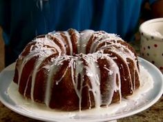 Coconut Bundt Cake : End any meal on a sweet note with this light coconut cake that is topped with a sweet pineapple glaze.
