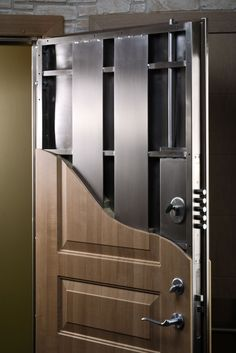 Security Door Installation in NYC by Paragon Security & Lock.- Security Door Installation in NYC by Paragon Security & Locksmith Replacing a building door? Building a new home? There is a lot to consider when you select your doors. Safe Door, Safe Room Doors, Gun Safe Room, Wall Safe, Gun Rooms, Home Security Systems, Security Doors, House Security, Security Lock
