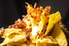 Tortillachips med bacon