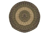 Massachusetts - Charles Navy & Sage Round Braided Rug This high-quality braided rug is made by American workers at our family-owned business in the North Carolina Mountains. It is made from Naturalized Olefin, which is a synthetic, polypropylene yarn that is extremely durable, yet soft enough for use indoors. It is color fast and washable. Visit www.stroudbraided... for more details