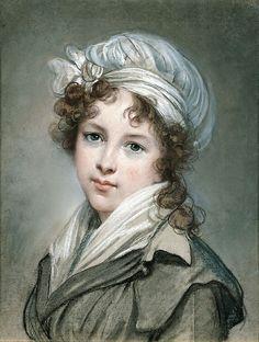 """""""Élisabeth Louise Vigée Le Brun (French, 1755–1842) self portrait pastel"""""""