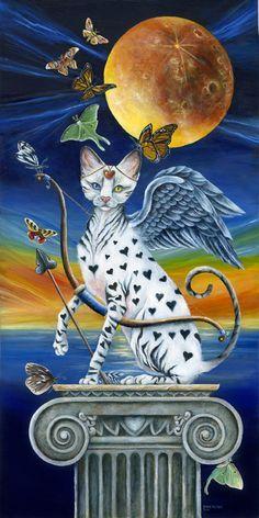 CUPID CAT BY JANIE OLSEN