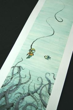 Aquaman Imposter Digital Watercolor Print by NathanStrauss on Etsy