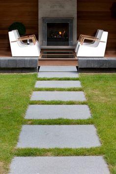 Luxe tuin met overdekt terras