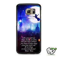 Peter Pan Fly Quotes Samsung Galaxy S6 Case