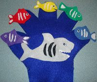 Abby the Librarian: Spring Storytime: Fish:  Five Little Fishies swimming in the sea, teasing Mr. Shark...