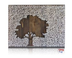 Inverse Oak Tree String Art Kit Tree String Art von StringoftheArt