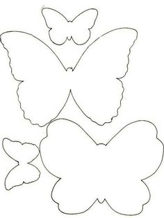 Trendy Ideas For Embroidery Patterns Butterfly Templates Butterfly Template, Butterfly Crafts, Butterfly Pattern, Flower Crafts, Paper Butterflies, Giant Paper Flowers, Crafts For Seniors, Crafts For Kids, Embroidery Patterns Free