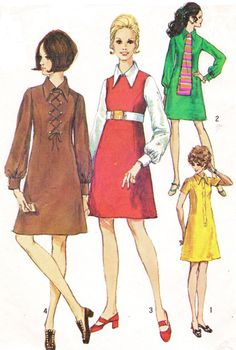 1960s Simplicity Sewing Pattern 8340 Womens Mod by CloesCloset, $14.00
