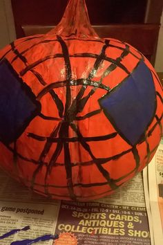 A Spiderman pumpkin