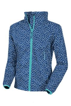 Target Dry Mac in a Sac Ladies Elle Waterproof Jacket - Dotty Navy Target dry have given the classic Mac in a Sac Jacket a feminine twist Offering