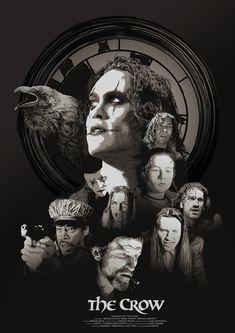 Original Movie Posters, Movie Poster Art, Poster On, Film Posters, Brandon Lee, Crow Movie, The Crow, Crow Art, Keys Art