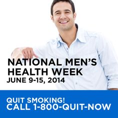 It's never too late to quit smoking. Quitting smoking has immediate and long-term benefits. It improves your health and lowers your risk of heart disease, cancer, lung disease, and other smoking-related illnesses. Share this post if there's a man in your life who could benefit from quitting smoking. #MensHealthWeek #MHW14