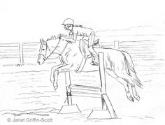 Jumping horse coloring page | Pony Camp Craft Ideas ...