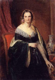 1840 Elizaveta Nikolaevna Krivtzova (1817-1855), née Princess Repnina-Volkonskaia by Franz Xaver Winterhalter (A.N. Radishchev State Fine Arts Museum - Saratov, Saratov Oblast Russia) | Grand Ladies | gogm
