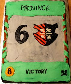 Ha... for you Dominion boardgame geeks - a cake!  @Corie DeWitt Green
